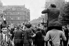 Prezydent Charles de Gaulle w Polsce. 1967. Dziennikarze francuscy w Gdansku