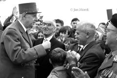 Prezydent Charles de Gaulle w Polsce. 1967. Spotkanie z kombatantami na Westerplatte