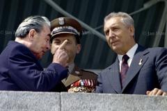 08 Leonid Brezniew ,Wojciech Jaruzelski i Edward Gierek, obchody XXX lecia PRL  1974