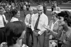 Edward Gierek i zona Stanislawa na przyjeciu lokalnym pof=dczas wizyty w USA 1975