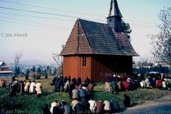 Msza św.  w kościółku w Naprawie (Podhale), 1979