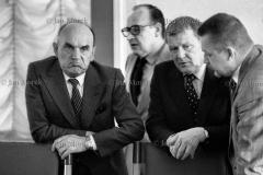 02  Pertraktacje Solidarności i rządu w okresie kryzysu bydgoskiego 1981. Strona rządowa: Józef Kępa  Stanisław Ciosek i Mieczysław Rakowski,