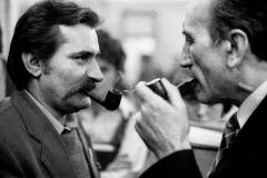 06 Pertraktacje Solidarności z rządem w czasie kryzysu bydgoskiego. Strona związkowa Lech Wałęsa i Tadeusz Mazowiecki, marzec 1981