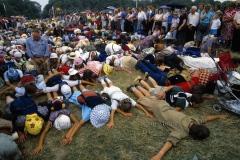 Przybycie pielgrzymów do Częstochowy, 1989