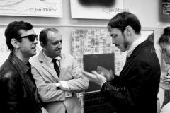Biennale Plakatu 1968, Warszawa. Najwybitniejsi polscy plakaciści:  Waldemar Świerzy, Julian Pałka i Franciszek Starowieyski