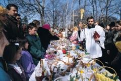 Wielkanocne święcenie potraw, Warszawa, 1990