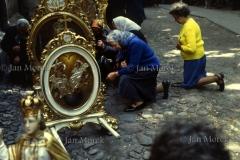 Procesja na Boże Ciało. Myszyniec, 1979