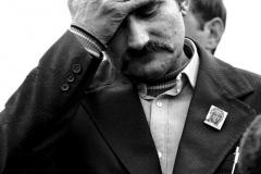 Lech Wałęsa po złożeniu dokumentów rejestracyjnych w Sądzie Wojewódzkim w Warszawie, 1980