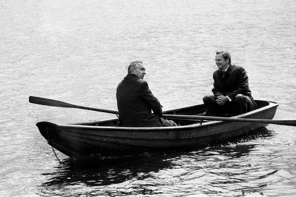 Edward Gierek i Olaf Palme, 1986