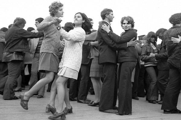 Festyn ludowy z okazji święta kwitnących jabłoni.  Łącko 1972